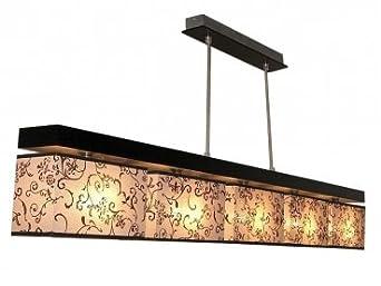 Luxus Pendel Decken Leuchte Wohnraum Pendel Lampe Rosen Blüten Dekor weiß