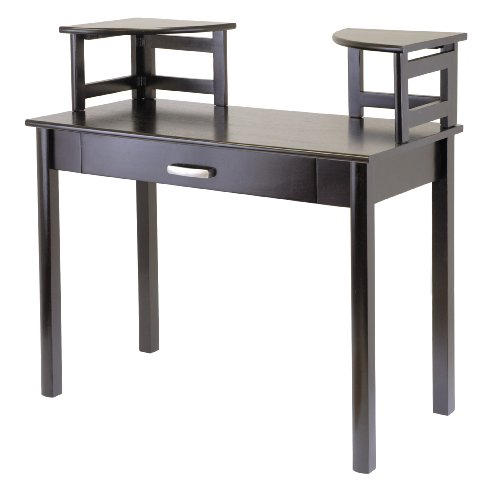 Buy Low Price Comfortable Winsome Wood Liso Wood Computer Desk with 2 Corner Hutches (B002SSUKN4)