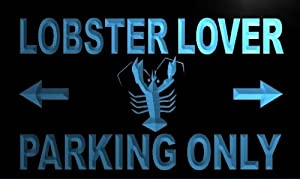 ADV PRO m374-b Lobster Lover Parking Only Neon Light Sign