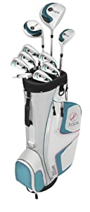 Wilson Women's Hope Complete Golf Package Set (Right Hand, Graphite DR, Graphite FW, Steel Hybrid and Irons, Ladies, D, FW, H, 6-SW)