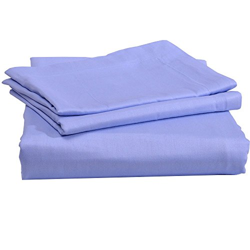 Relaxare Cal King 800TC High Quality 100% Egyptian Cotton Light Blue Solid 3PC Flat Sheet Solid [1 Flat Sheet and 2 Pillowcases] - Ultra Soft Breathable Premium Fabric (Ca King Fitted Sheet Only compare prices)