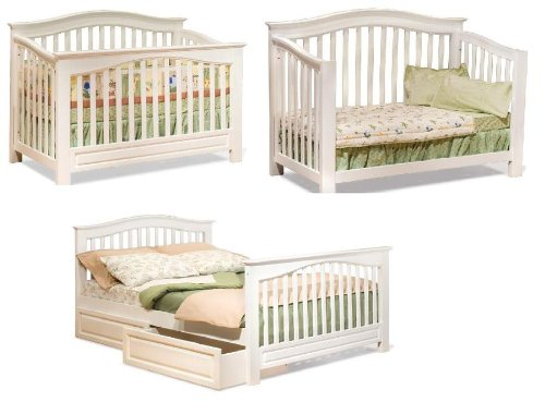 WINDSOR CONVERTIBLE CRIB WITH CONVERSION KIT (WHITE) BY ATLAN - Kendall Crib Conversion Kit Instructions ~ Best Baby Crib Inspiration