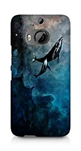 Amez designer printed 3d premium high quality back case cover for HTC One M9+ (whale ocean )