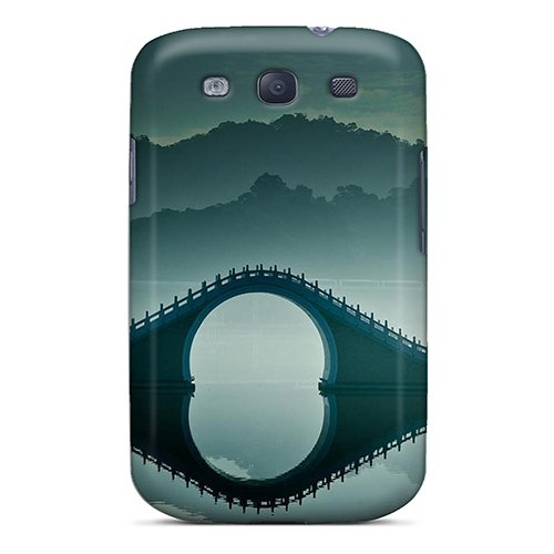 Defender Case With Nice Appearance (Fantastic Bridge On Misty Lake) For Galaxy S3