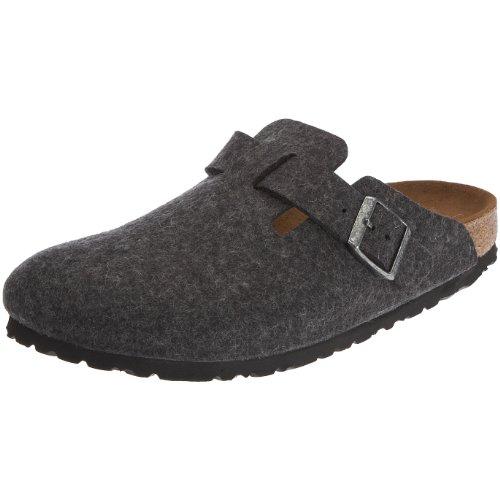 birkenstock boston 160583 zoccoli unisex adulto grigio anthrazit 43 normale scarpe da uomo. Black Bedroom Furniture Sets. Home Design Ideas