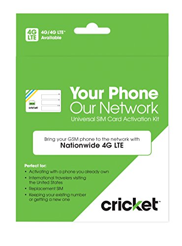 Cricket Wireless Prepaid GSM SIM Card -  | Bring Your Own De