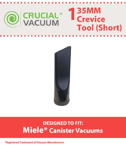 Miele 35Mm Short Crevice Tool Fit Miele Canister Vacuums 35Mm Fitting Attachment, Designed & Engineered By Crucial Vacuum