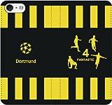 iPhone用選択可:サッカー手帳ケース(ドルトムント_ファンタスティック4_A)レザー/手帳型 iPhone6/6s用
