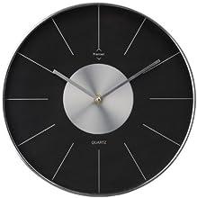 Premier Housewares 2200562 Horloge Murale Noir/Argent