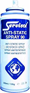 Servisol Servisol anti-static spray 200ML aerosol prevents buildupof static electricity for use on plastic metal & woodAnti Static 90 - Consumable