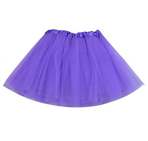 SUNNYTREE Purple Tutu for Girls Ballet Skirt Dance Costume for Party Purple