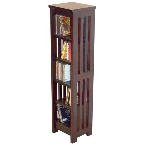 MISSION - Solid Wood CD / Media Storage Shelves - Dark
