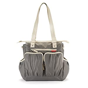skip hop madison diaper bag steel discontinued by manufacturer diaper tote. Black Bedroom Furniture Sets. Home Design Ideas