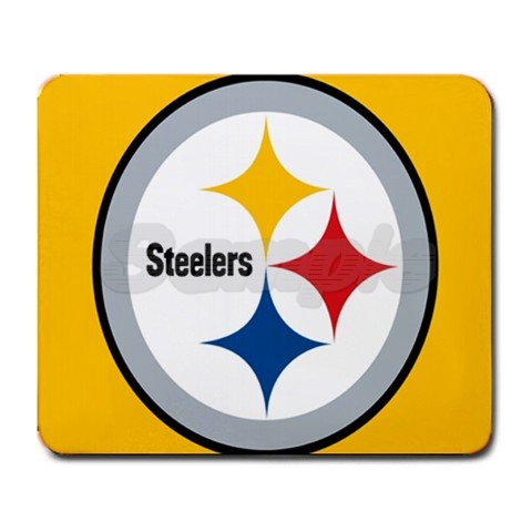 Pittsburgh Steelers Rectangular Mouse Pad - 9.25 x 7.75 Mouse Mat - Deluxe Mousepad