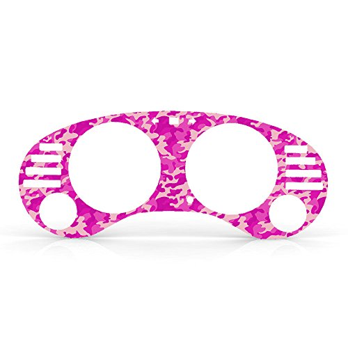 Pink Camouflage Print Gauge Cluster Dash Bezel Trim fits: 1995-1999 Mitsubishi Eclipse Manual Transmission - Ferreus Industries - BZL-180-Pink-Camo-094-02 (Pink Dash Cover Eclipse compare prices)