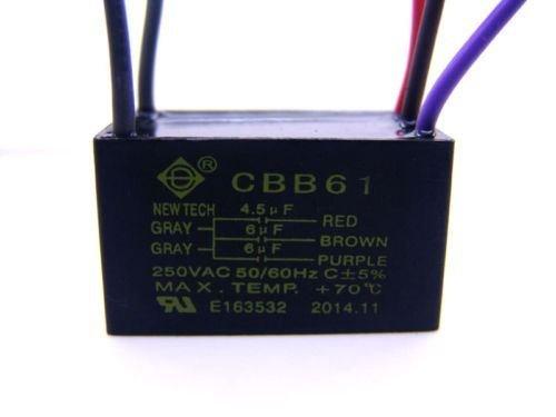 CEILING FAN CAPACITOR CBB61 4.5uf+6uf+5uf 5 WIRE (5 Wire Ceiling Fan Capacitor compare prices)