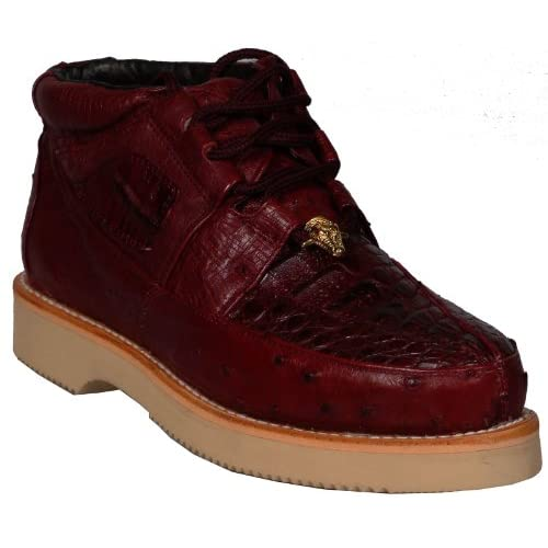 Genuine Leather Mens Ankle High BOOTS Casual Handmade 2102 Shoes