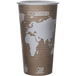 Eco-Products EP-BHC20-WA 20 oz World Art Hot Cup (20 Packs of 50)