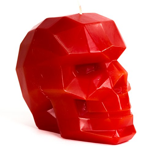 Skull Candle - Skull - Geometric Candles - Red