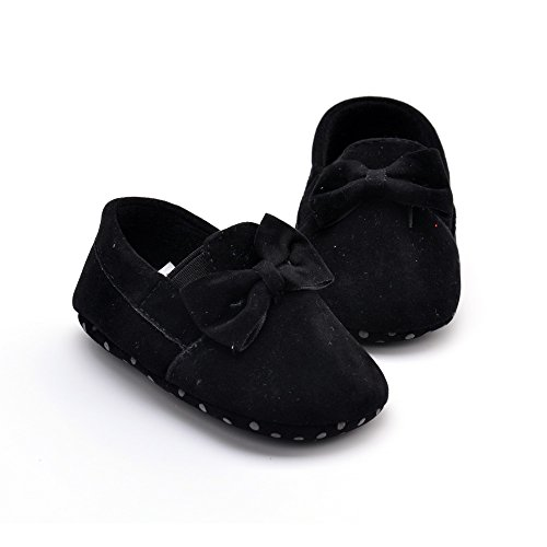 1. WXBUY Infant Girls Cotton Ribbon Bowknot Soft Bottom Flower Prewalker
