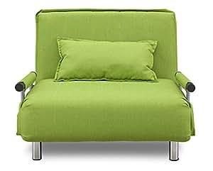 大川家具 関家具 ソファベッド (幅97cm/素材 布) 折りたたみ式 グリーン 160449