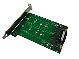 M.2 x 2 to SATA III Dual Port Adapter with PCI-e Bracket