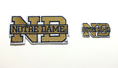 Notre Dame Embroidered Iron on Patch Set 2 Nd Fighting Irish Patches (Notre Dame Iron On Patch compare prices)