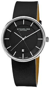 Stuhrling Original Men's 244.33151 Classic Ascot Fairmount Swiss Quartz Date Ultra Slim Black Watch