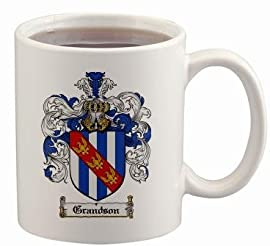 Grandson Coat of Arms Mug / Family Crest 11 ounce cup