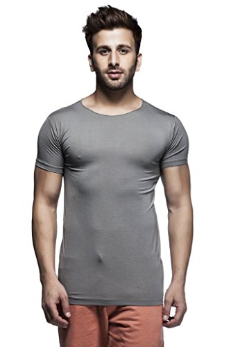 Tinted Men's Solid Round Neck Half Sleeve T-Shirt