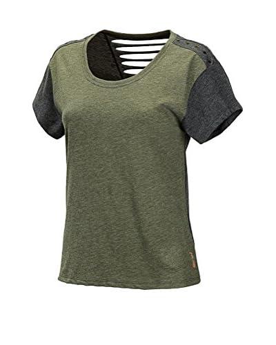New Balance Camiseta Manga Corta Verde Oscuro / Gris Oscuro