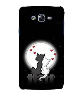 printtech Cat Kitty Love Couple Back Case Cover for Samsung Galaxy J7 (2016 ) /Versions: J710F, J710FN (EMEA); J710M (LATAM); J710H (South Africa, Pakistan, Vietnam) Also known as Samsung Galaxy J7 (2016) Duos with dual-SIM card slots Asia/China model with 1080p display and 3 GB RAM