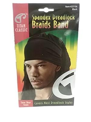 Titan Classic Spandex Dreadlock Braids Band - Black