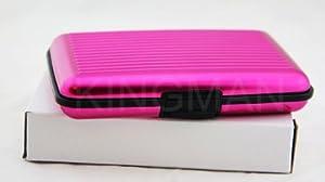New Pink Aluminum Aluma Wallet Credit Card Holder - FRID Blocking