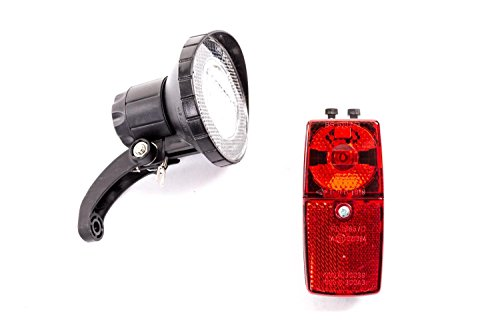 Fahrrad Beleuchtung Lampen Set Dynamo Vorderlicht Rücklicht