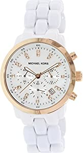 Michael Kors Women's MK5487 Acrylic Quartz Watch with Mother-Of-Pearl Dial
