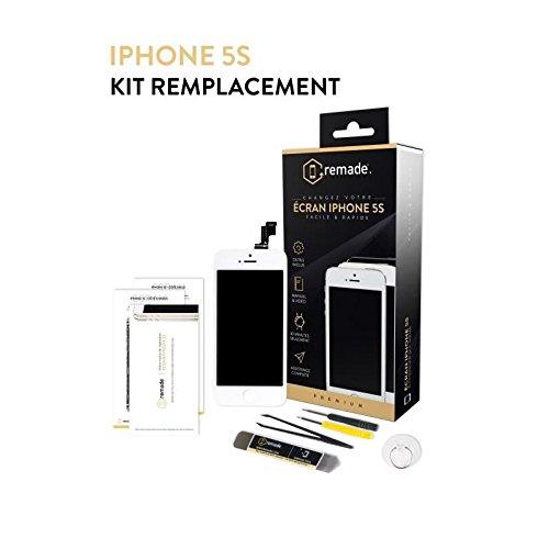 Remade REMSCRIP5SWE Kit de réparation d'écran pour iPhone 5S Blanc