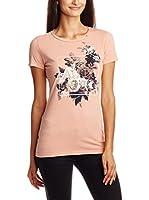 Gas Jeans Camiseta Manga Corta (Rosa)