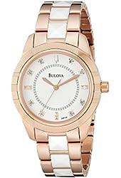 Bulova Women's 98P138 Analog Display Quartz Rose Gold Watch