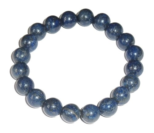 10mm Lapis Lazuli Bracelet 01 Natural Third Eye Crown Chakras Healing (Gift Box) (6.75 inches)