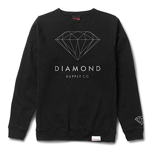 Diamond Supply Co. Men's Brilliant Diamond Crewneck Sweatshirt Black 2XL (Mens Diamond Supply Co Sweatshirt compare prices)