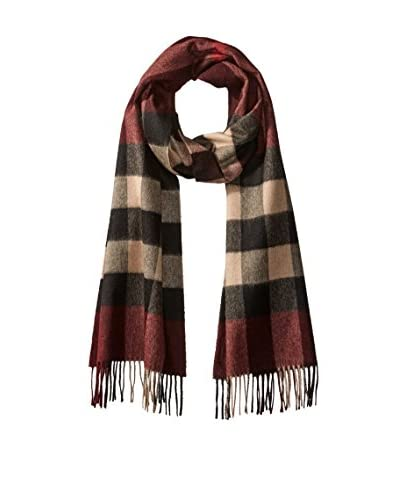 Burberry Men's Cashmere Scarf, Claret Check