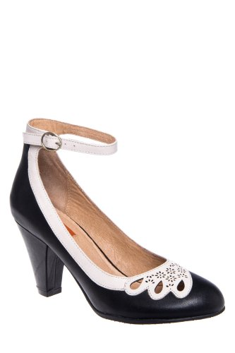 Miz Mooz Callista High Heel Retro Ankle Strap Pump