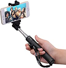 New Generation Selfie Stick, Mpow iSnap X One-piece U-Shape Self-portrait Monopod Extendable Selfie Stick with built-in Bluetooth Remote Shutter for iPhone 6, iPhone 5, Samsung Galaxy S5, Android -Black