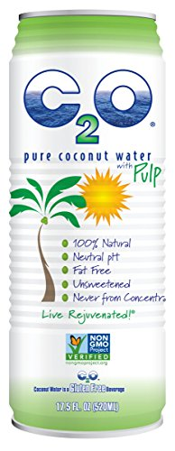 C2O Pure Coconut Water, With Pulp, 17.5 Ounce (Pack of 12) (Water Amazon compare prices)