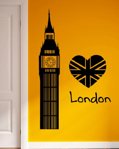 Wall Vinyl Stickers Big Ben London England Travel Cool Decor Z1833M front-973531