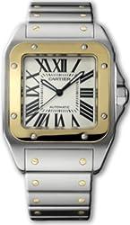 Cartier Santos 100 XL Mens Gold & Steel Watch W200728G