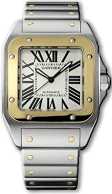 buy Cartier Santos 100 Xl Mens Gold & Steel Watch W200728G