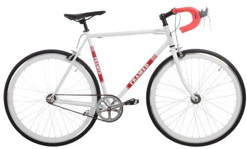 Framed Lifted Drop Bar U-Brake Bike Single Speed White/Red 52cm