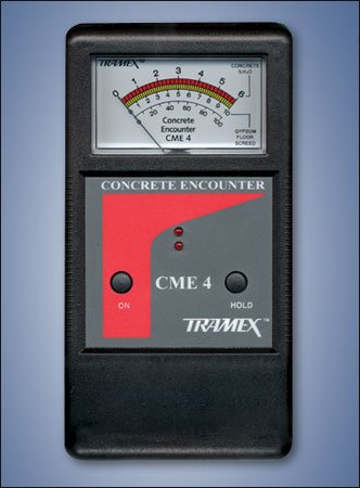 CME4 Tramex Non Destructive Concrete Moisture Meter Encounter 4, Measuring Range: 2-6% H2O